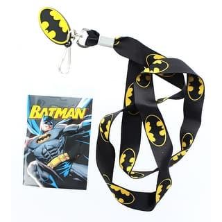 Batman Logo Black Lanyard w/ Logo Charm|https://ak1.ostkcdn.com/images/products/is/images/direct/0dafade37d2aeec85b1980b85624d06953faa26c/Batman-Logo-Black-Lanyard-w--Logo-Charm.jpg?impolicy=medium