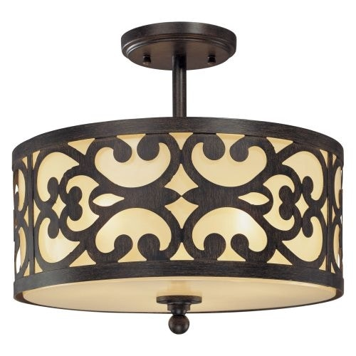 Minka Lavery 1498 3 Light Semi-Flush Ceiling Fixture from the Nanti Collection