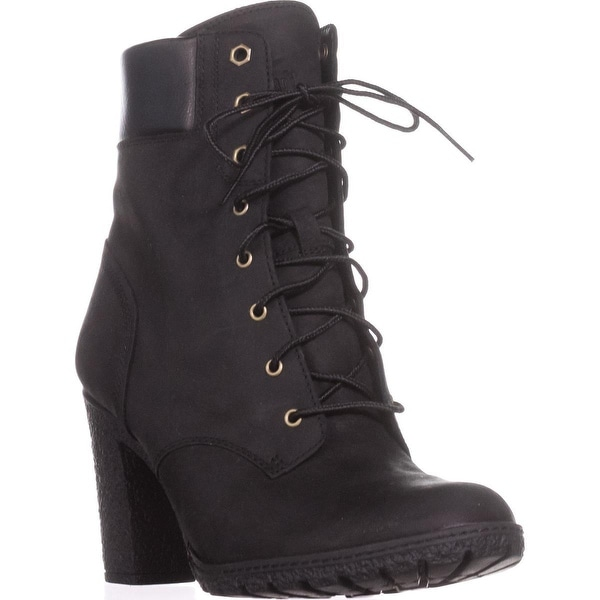 Timberland Earthkeepers Glancy Lace Up Heeled Boots, Black