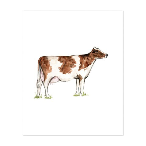Animals Bovine Cow Dairy Cow Mammal Unframed Wall Art Print/Poster