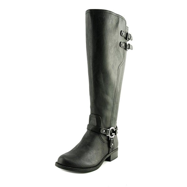 G By Guess Hentai Wide Calf Women Round Toe Synthetic Black Knee High Boot