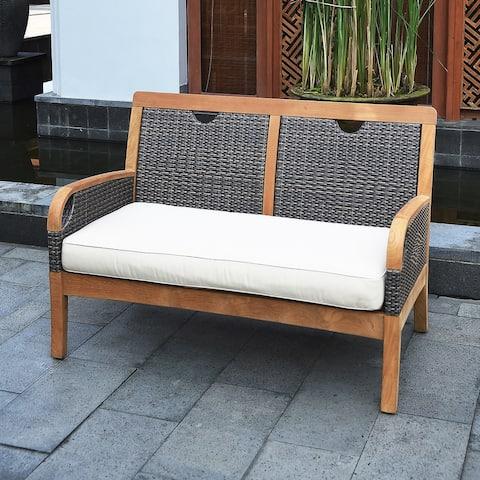 Cambridge Casual Palma Teak Outdoor Loveseat with Cushion