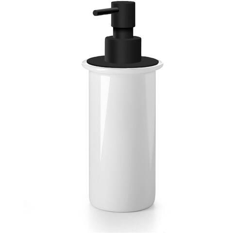 WS Bath Collections Saon 55006.09 Saon Ceramic White Soap Dispenser - Matte Black