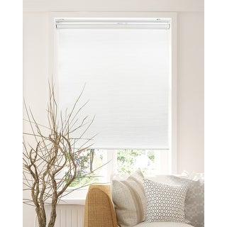Link to CHICOLOGY Privacy Cordless Roller Shades Snap-N'-Glide-Felton White Similar Items in Blinds & Shades