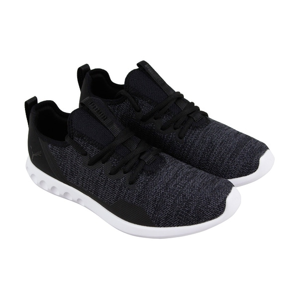12ebf7d33cbe Puma Carson 2 X Knit Mens Black Textile Athletic Lace Up Running Shoes