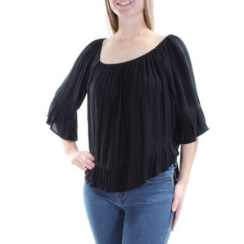 RALPH LAUREN Womens Black Top Size: L