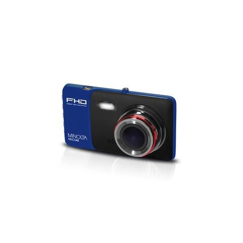"Minolta Full HD 1080p Wide Angle Car Dashboard Camera with G-Sensor, HDR, Loop Recording & 4"" LCD (Blue)"