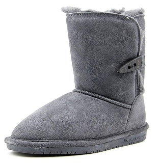 Bearpaw Abigail Youth Youth Round Toe Suede Gray Winter Boot