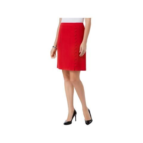 Nine West Womens A-Line Skirt Embellished Crepe