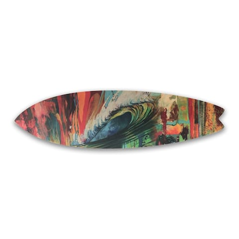 Water and Color by Colossal Images Surfboard Art 13x47 inches