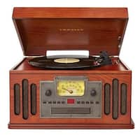 Musician Deluxe Bluetooth Turntable Record Player - Paprika