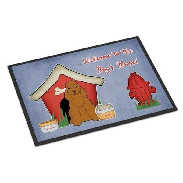 Carolines Treasures BB2849MAT Dog House Collection Cocker Spaniel Red Indoor or Outdoor Mat 18 x 0.25 x 27 in.