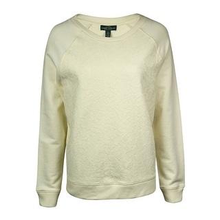 LRL Lauren Jeans Co. Women's Bonded-Lace Raglan Sweater - l