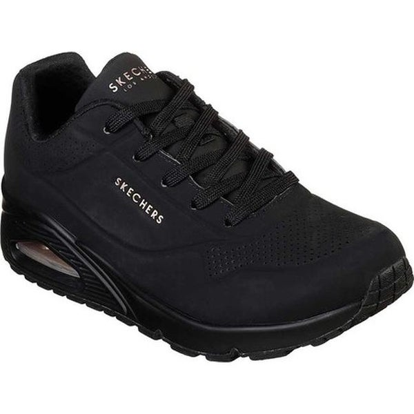 Shop Black Skechers Uno Stand on Air Street Shoes for Women | NISNASS