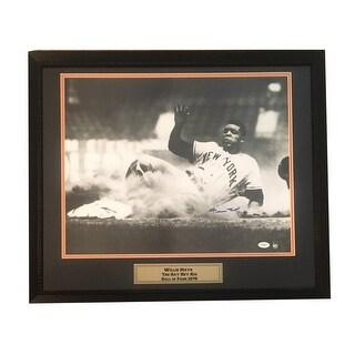 Willie Mays Autographed San Francisco Giants Signed 16x20 Framed Baseball Photo JSA