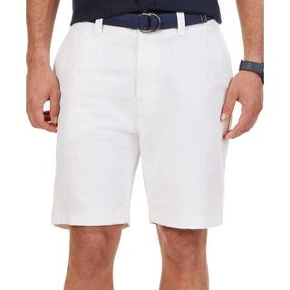 Nautica NEW White Ivory Mens Size 30 Flat Front Casual Deck Shorts|https://ak1.ostkcdn.com/images/products/is/images/direct/0db459ee417301aca643828f1292bbc44f89570a/Nautica-NEW-White-Ivory-Mens-Size-30-Flat-Front-Casual-Deck-Shorts.jpg?impolicy=medium