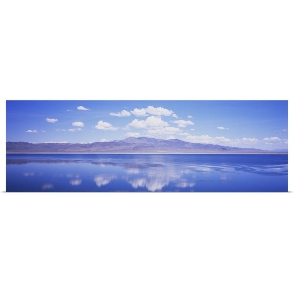 """""""Reflection of clouds in a lake, Walker Lake, Mineral County, Nevada"""" Poster Print"""