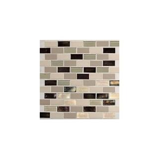 "Daltile CK21BJP Coastal Keystones - 2"" x 1"" Brick Joint Mosaic Multi-Surface Tile - Polished Varied Visual"