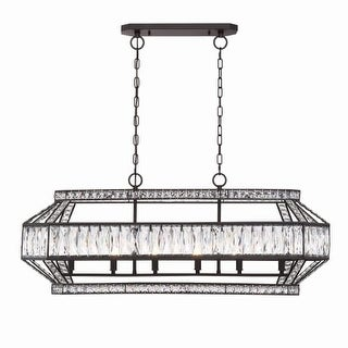 "Eurofase Lighting 31885 Bellezza 6 Light 39-1/2"" Wide Crystal Chandelier with Crystal Accents"