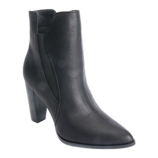 Penny Loves Kenny Women's Avid High Heal Chelsea Boot Black Faux Leather