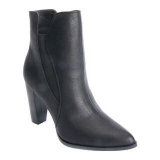 Penny Loves Kenny Women's Avid High Heel Chelsea Boot Black Faux Leather