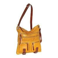 Nino Bossi Women s Ruthie Leather Crossbody Bag Mustard - US Women s One  Size ... d763c3db3ae8f