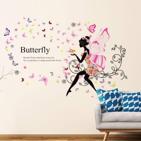 "Butterfly Removable Vinyl DIY Wall Art Mural Sticker Decal 35.4""x23.6"""