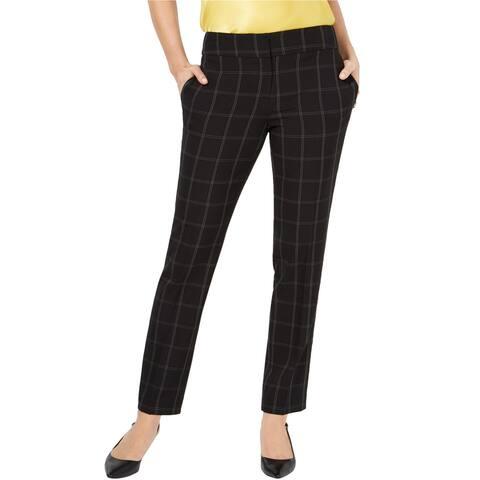 Kasper Womens Windowpane Dress Pants, black, 14P