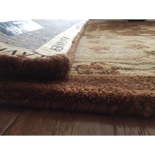 Safavieh Handmade Anatolia Oriental Oushak Brown/ Beige Hand-spun Wool Rug (9' x 12')