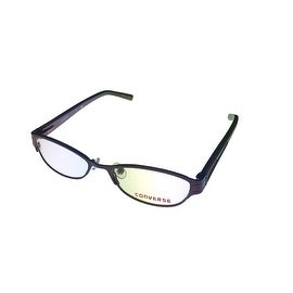 Converse Womens Opthalmic Eyeglass Modified Rectange Metal Frame Gizmo Burgundy