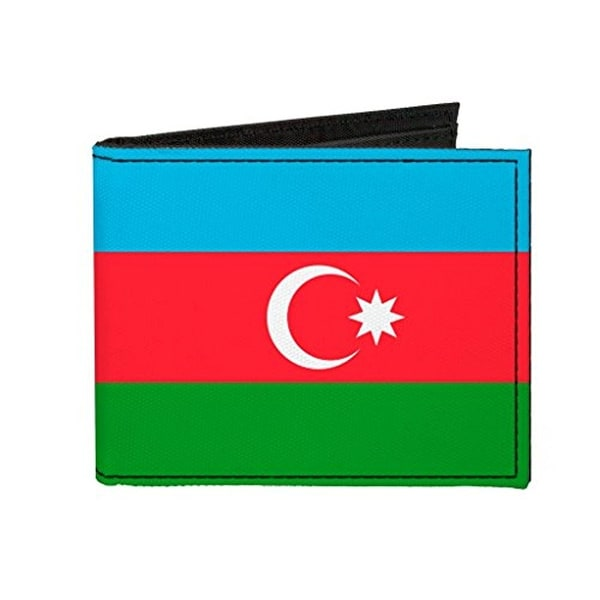 Buckle-Down Canvas Bi-fold Wallet - Azerbaijan Flag Accessory