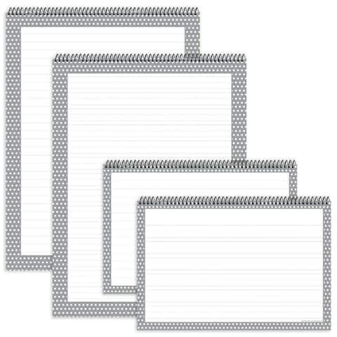 Gray Polka Dot Chart Tablets 4Pk