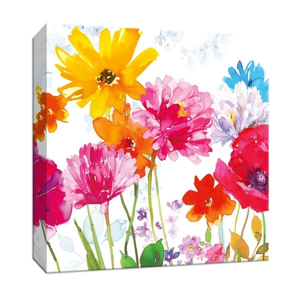 "PTM Images 9-147040 PTM Canvas Collection 12"" x 12"" - ""Wildflower Meadow"" Giclee Flowers Art Print on Canvas"