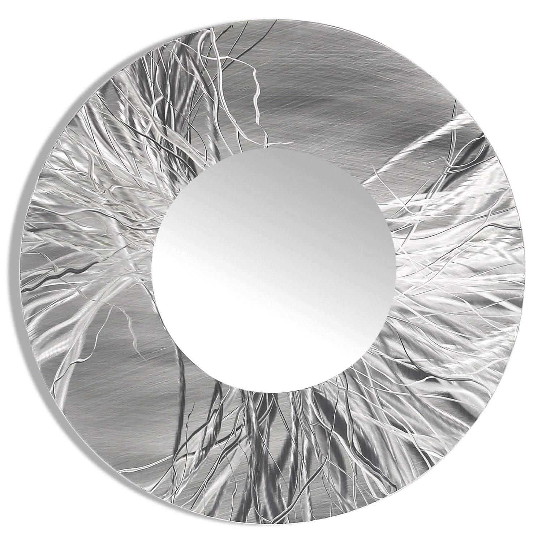 Statements2000 Silver Metal Decorative Wall-Mounted Mirror by Jon Allen - Mirror 104 - Thumbnail 0