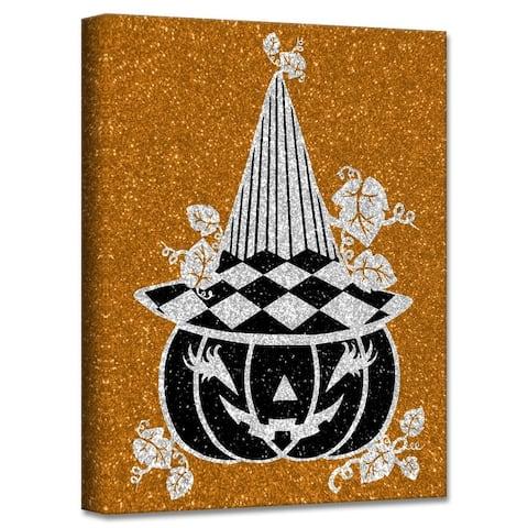 ChiChi Décor 'Glamoween Pumpkin IV' Halloween Canvas Wall Art