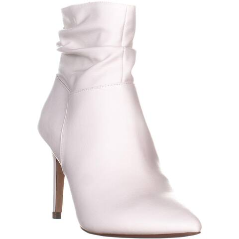 XOXO Taniah Pointed Toe Ankle Boots, White