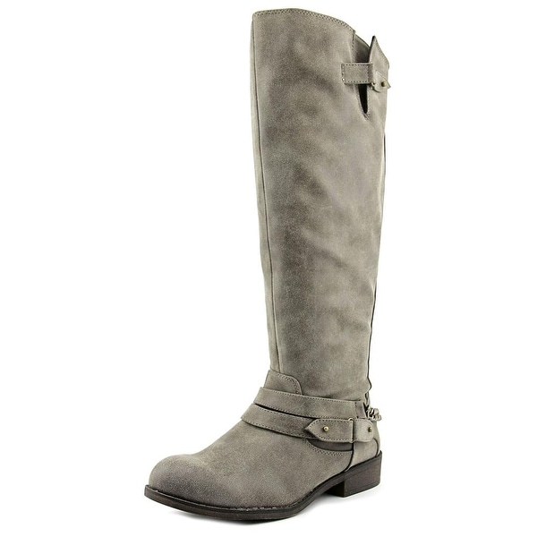 Madden Girl Canyon Wide Calf Women Round Toe Synthetic Brown Knee High Boot