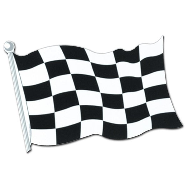 Club Pack Of 24 Race Track Themed Black And White Checkered Flag Party Decorations 18