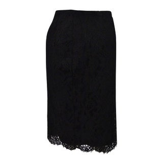 Lauren Ralph Lauren Women's Lace Pencil Skirt (4, Black) - Black