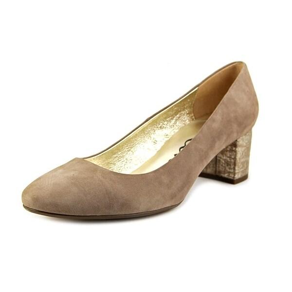 Nina Blondell Women  Round Toe Suede  Heels