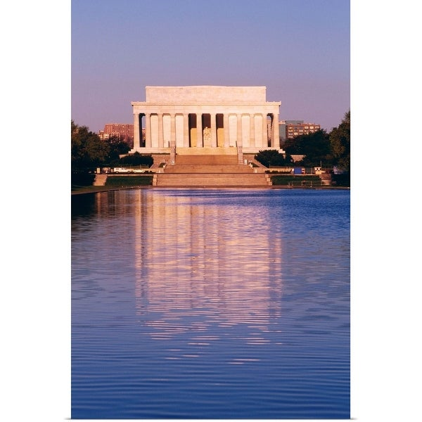 """""""The Lincoln Memorial and the Reflecting Pool in Washington, DC"""" Poster Print"""