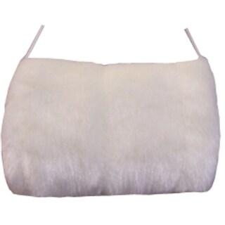 NICE CAPS Girls Faux Fur Micro Fleece Lined Hand Muffs - White