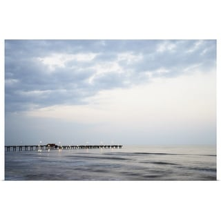 """Pier in sea at dusk"" Poster Print"