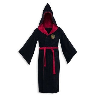 Harry Potter Hogwarts Adult Cotton Hooded Bathrobe