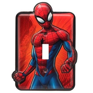 Marvel Comics Spiderman Embossed Metal Switch Plate