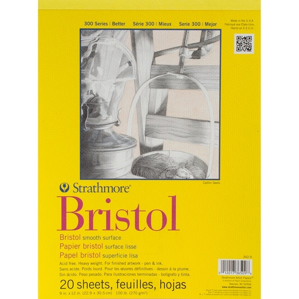 "Strathmore Bristol Smooth Paper Pad 9""X12"""