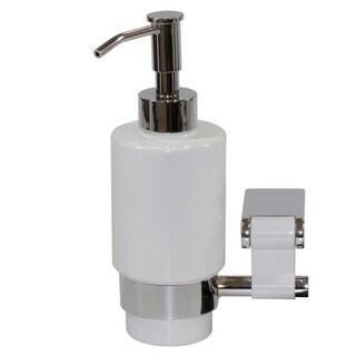 Iris 6117 Wall Soap Dispenser - Chrome-white