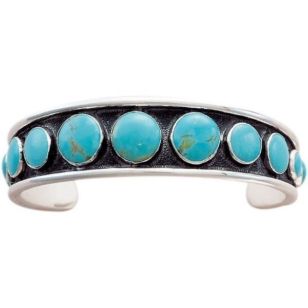 Vogt Western Womens Bracelet Cabochons Silver Turquoise 014-090 - silver turquoise