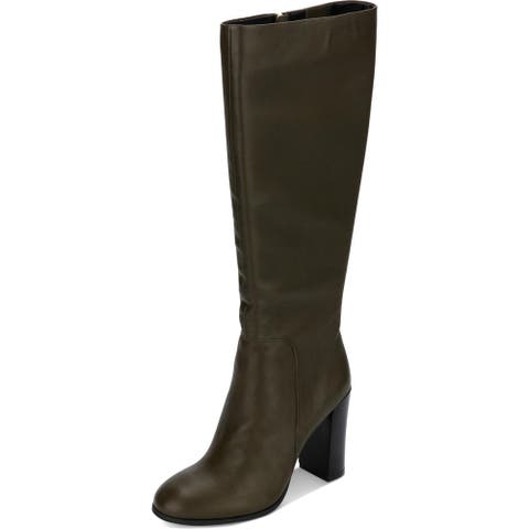 Kenneth Cole New York Womens Justin Dress Boots Padded Insole Over-The-Knee