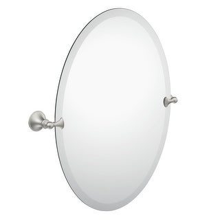 "Moen DN2692  26"" Tall Tilting Oval Mirror from the Glenshire Collection"